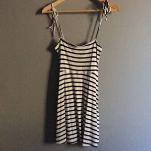 Striped Tied Strap Cami Dress